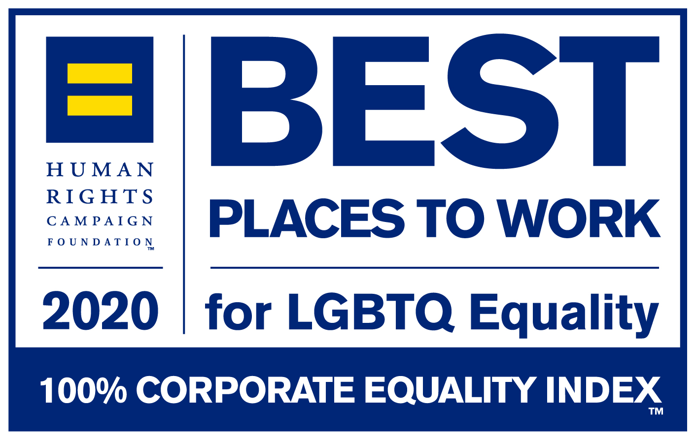 Best places to work for LGBT Equality 2020